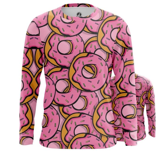 Merch Long Sleeve Doughnuts Donuts Art Inspired Food Pattern