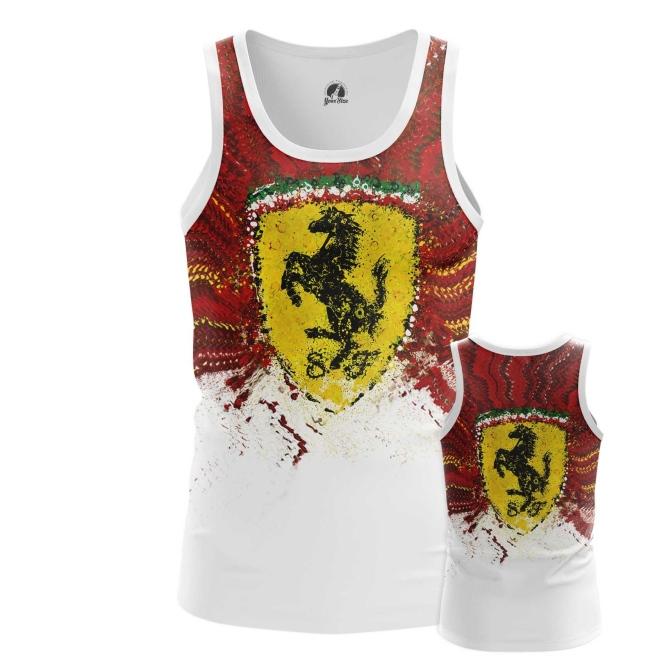 Merchandise Tank Ferrari Car Logo Emblem Vest