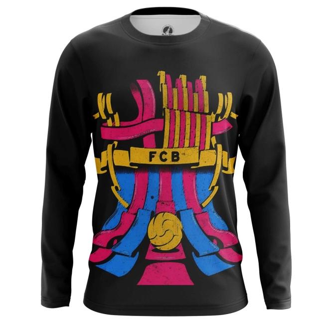 Merch Long Sleeve Fc Barcelona Fan Art Pattern Logo