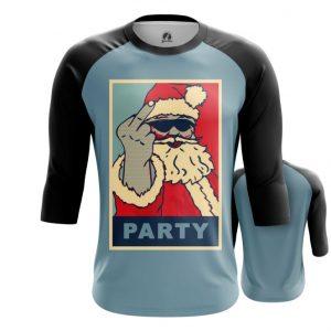 Merch Raglan Santa Claus Party Christmas Pop Art