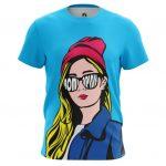 Merch T-Shirt Pop Gal Girl Hipster Pop Art Illustration Inspired