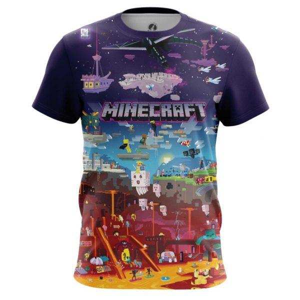 9f590340f Shop online Mens t shirt Minecraft Pattern Fan art Мир best merchandise and  collectibles