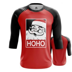 Merch Raglan Hoho Santa Pop-Art Christmas