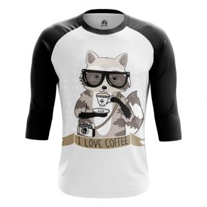 Collectibles Raglan Raccoon Hipster Art Picture