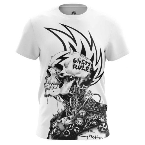 T-shirt Ghetto Rules Punk Skeleton Iroquois - IdolStore