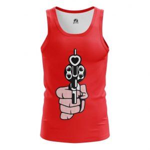 Merch Tank Revolver Love Gun Hearts Bullets Pop Art Vest