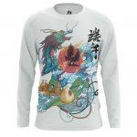 Collectibles Long Sleeve Mythical Japanese Dragon Print Asian Folk