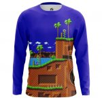 Collectibles Men'S Long Sleeve Sonic Hedgehog 16-Bit World