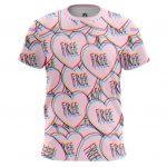 Merch T-Shirt Love Heart Symbol Free Quote Freedom