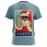 Collectibles T-Shirt Santa Claus Party Christmas Pop Art