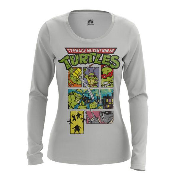 cb9f219f8 Womens long sleeve TMNT Ninja Turtles Animated Miki - IdolStore