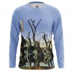 Collectibles Long Sleeve Swans Reflecting Elephants Painting Salvador Dali