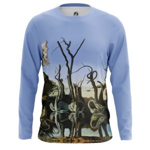 Collectibles - Long Sleeve Swans Reflecting Elephants Painting Salvador Dali