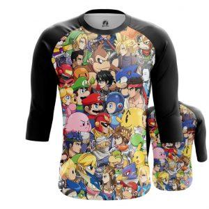 Merchandise Raglan Nintendo World Game Characters