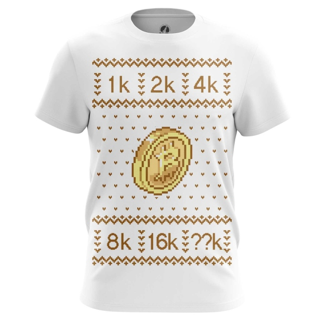 Collectibles Men'S T-Shirt Bitcoin Christmas Special Pattern