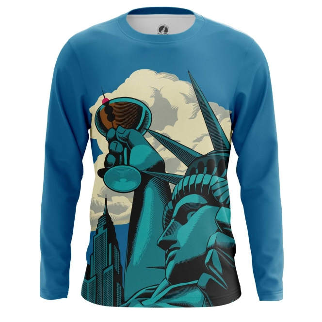 Collectibles Long Sleeve Statue Of Liberty Web Art Inspired Have A Drink Vine