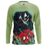Merch Men'S Long Sleeve Venom Symbiote Spider-Man Fight