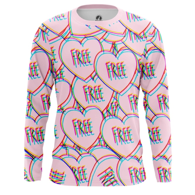 Collectibles Long Sleeve Love Heart Symbol Free Quote Freedom