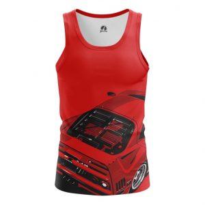 Collectibles Tank Ferrari Car Logo Emblem Red Vest