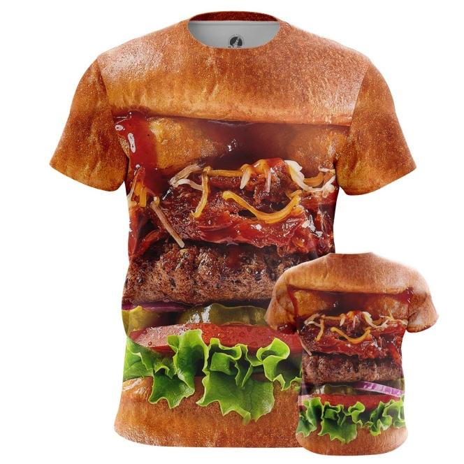 Collectibles Men'S T-Shirt Tasty Food Art Fun Burger Apperel Meat