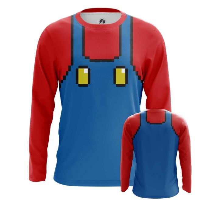 Merch Long Sleeve Mario Costume Suit Nintendo Art