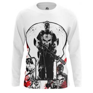 Merch Long Sleeve Punisher Frank Castle Inspired Clothing