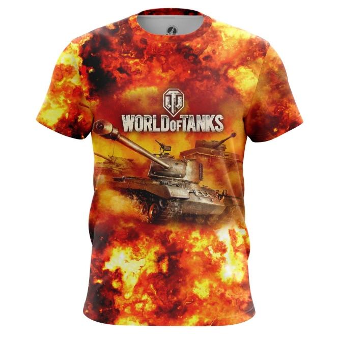 Merch Men'S T-Shirt World Of Tanks In Fire Gaming Arcade