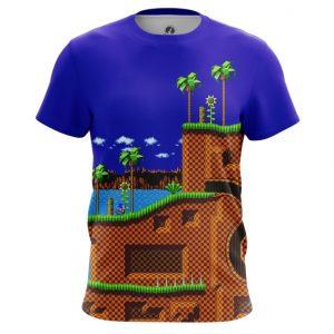 Merchandise Men'S T-Shirt Sonic Hedgehog 16-Bit World