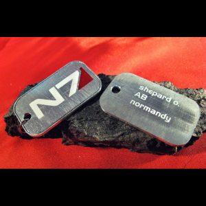 Merch Necklace Mass Effect N7 Badge Token