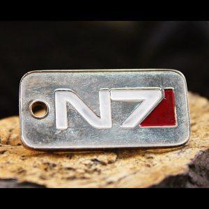 Merch Necklace Mass Effect N7 Badge Emblem Handmade Pendant