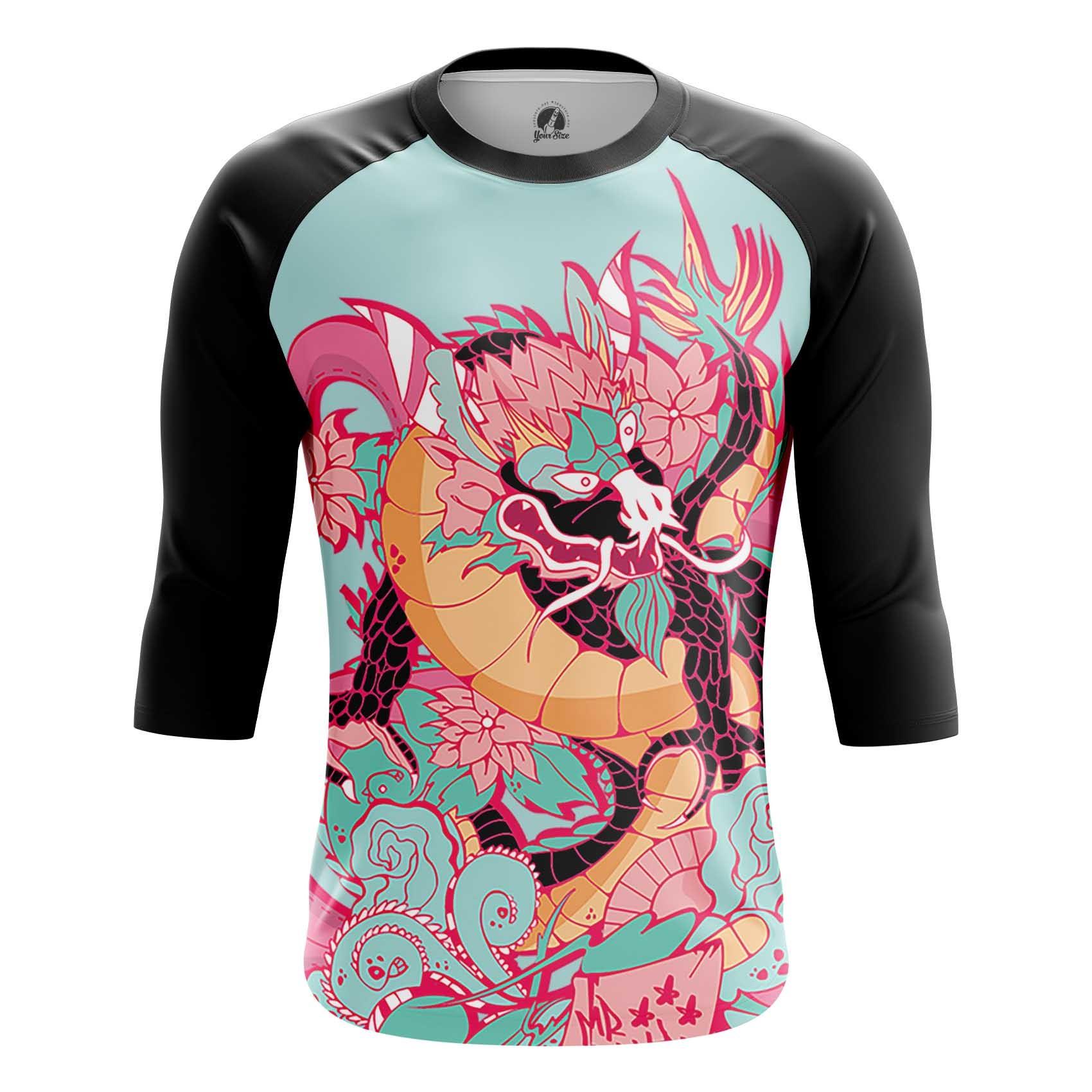 Merchandise Long Sleeve Asian Chinese Japan Dragon Mythology Folk Pink
