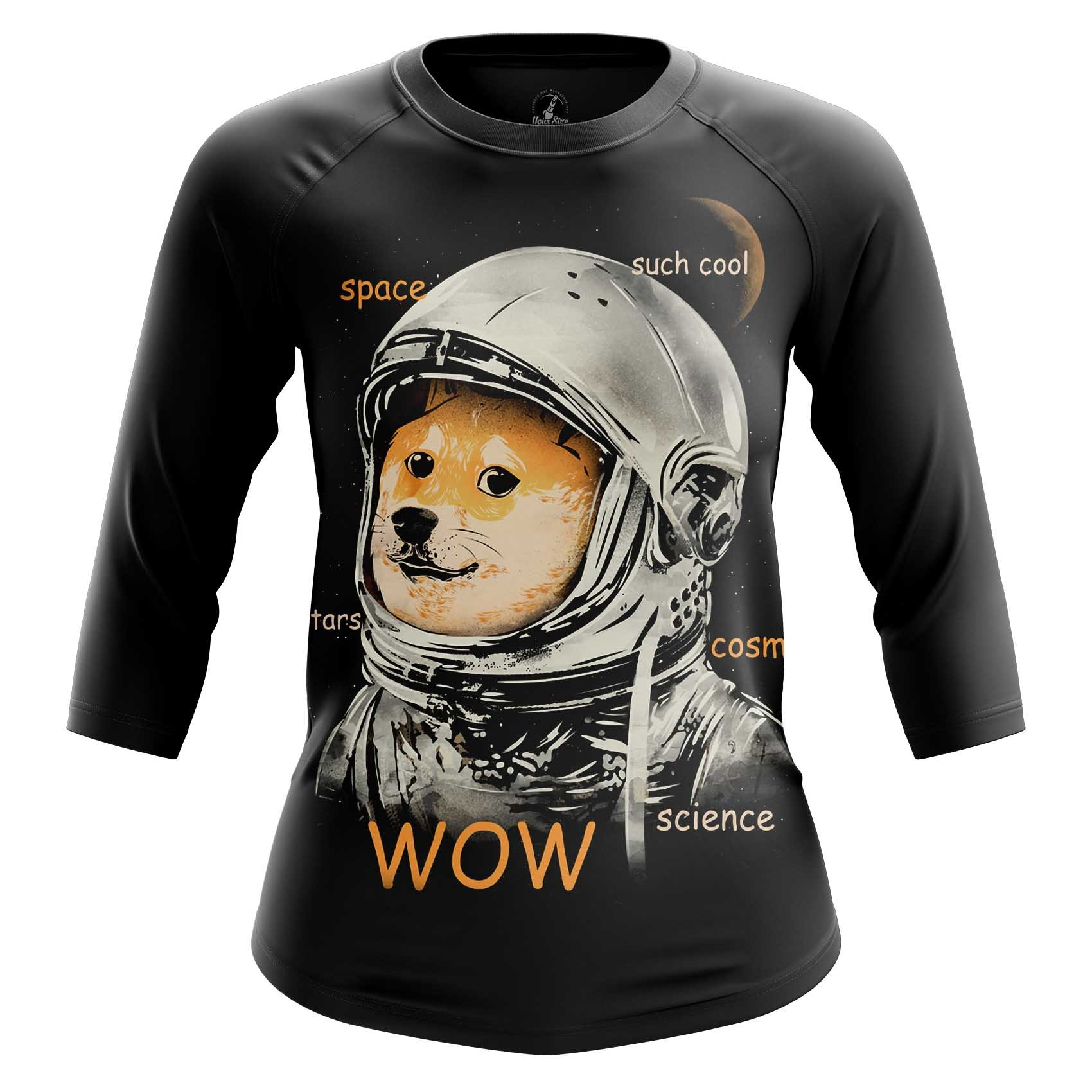 Merchandise Women'S Raglan Such Space Meme Doge