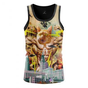 Merchandise Men'S Tank Catzilla Japanese Godzilla Fun Vest