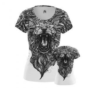 Merch Women'S Long Sleeve Inked Lion Tattoo Print