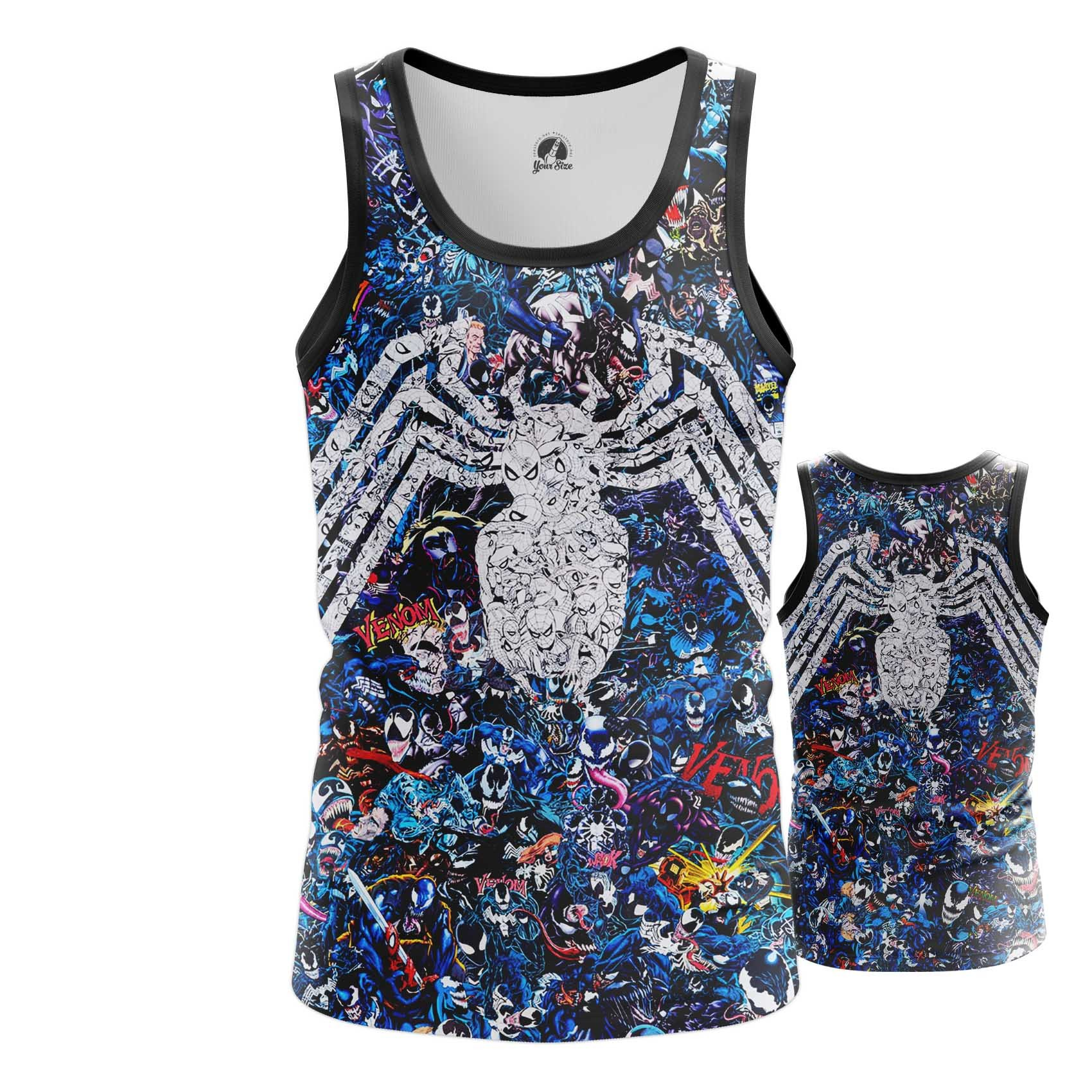 Collectibles Men'S Long Sleeve Venom Symbiote Collage Pattern Print