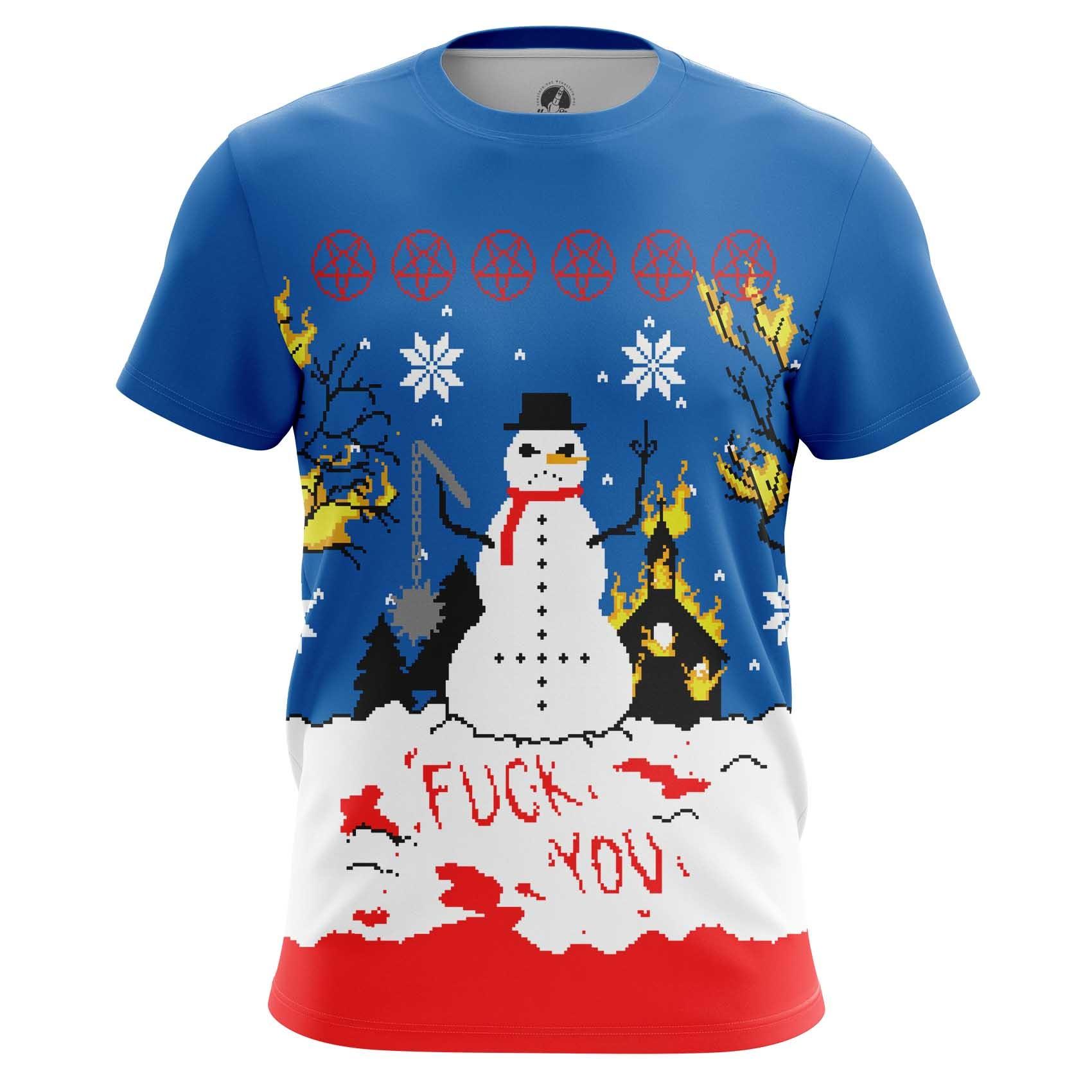 Collectibles Long Sleeve Christmas Of White Snowman Satan Killer