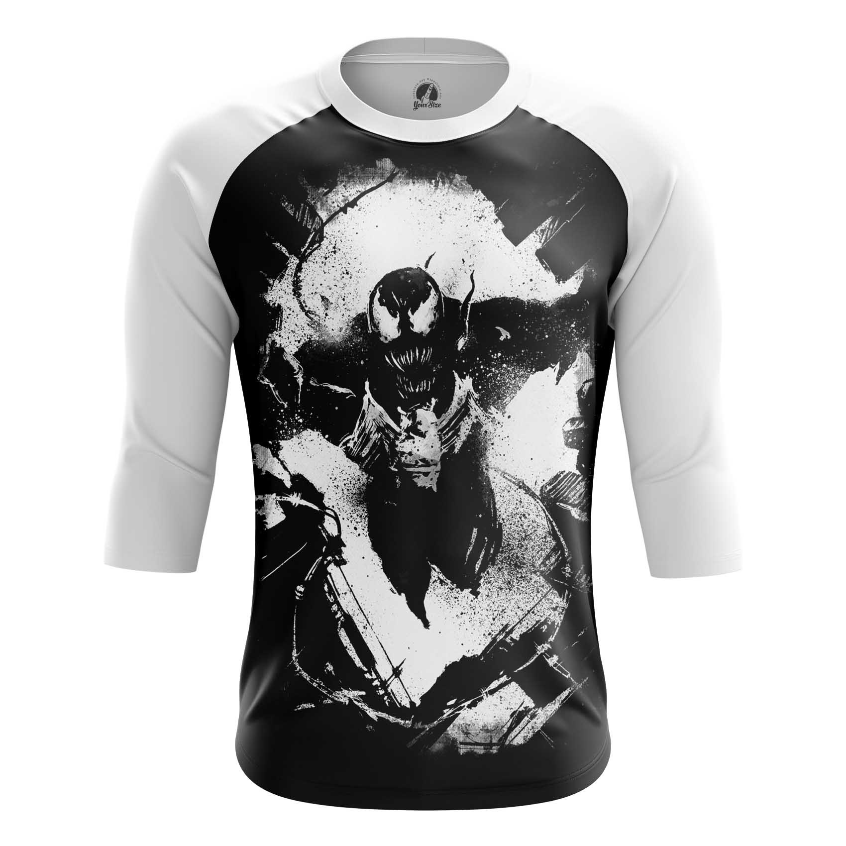 Merchandise Men'S Long Sleeve Venom Symbiote Dark Print 2018