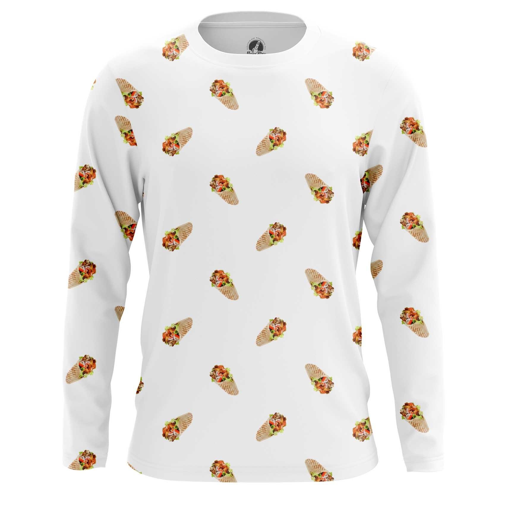 Merch Men'S T-Shirt Shawarma Pattern Food Art Meat
