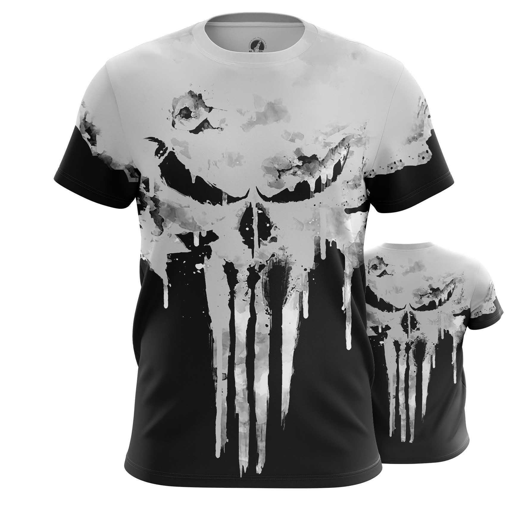 Collectibles T-Shirt Punisher Skull Logo Full Body Print Inspired Clothing
