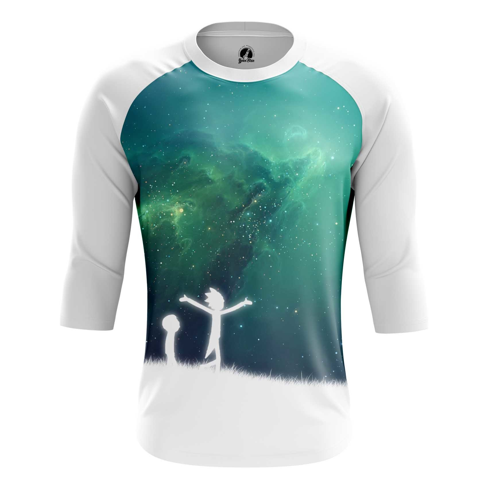Collectibles - Men'S Raglan Space Wanderers Rick And Morty Arts