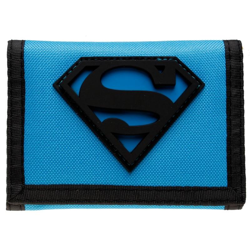 - Superman Wallet Trifold Nylon Wallet Dft 7003