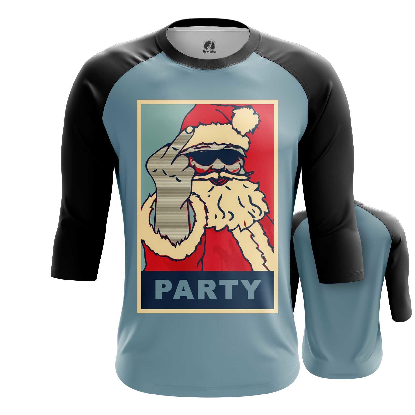 Merch T-Shirt Santa Claus Party Christmas Pop Art