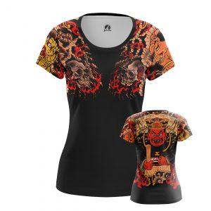 Merch Women'S T-Shirt Yakuza Black Tattoo Sleeves