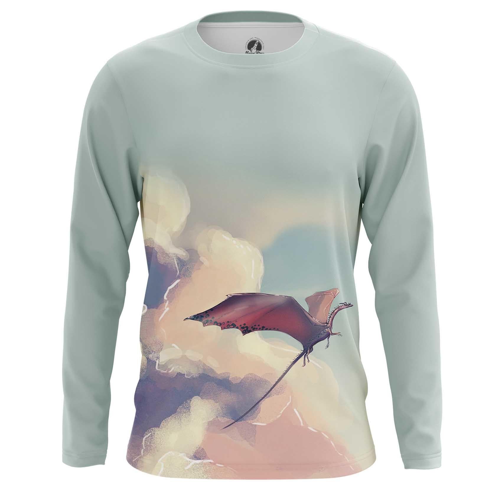 Merchandise Long Sleeve Dragon In Te Sky Art Paint Mythology