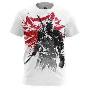 Merch Men'S T-Shirt Witcher 3 Wolf Sign 3