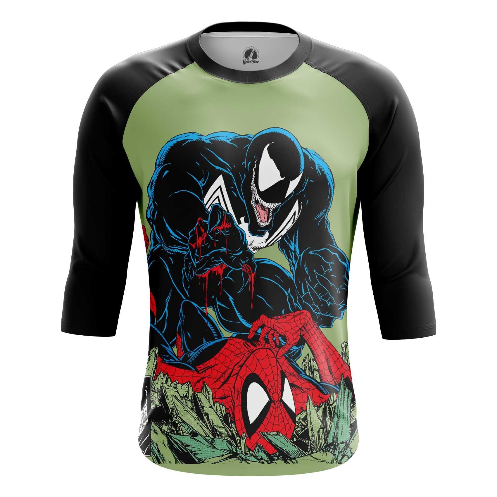 Merchandise Men'S Long Sleeve Venom Symbiote Spider-Man Fight