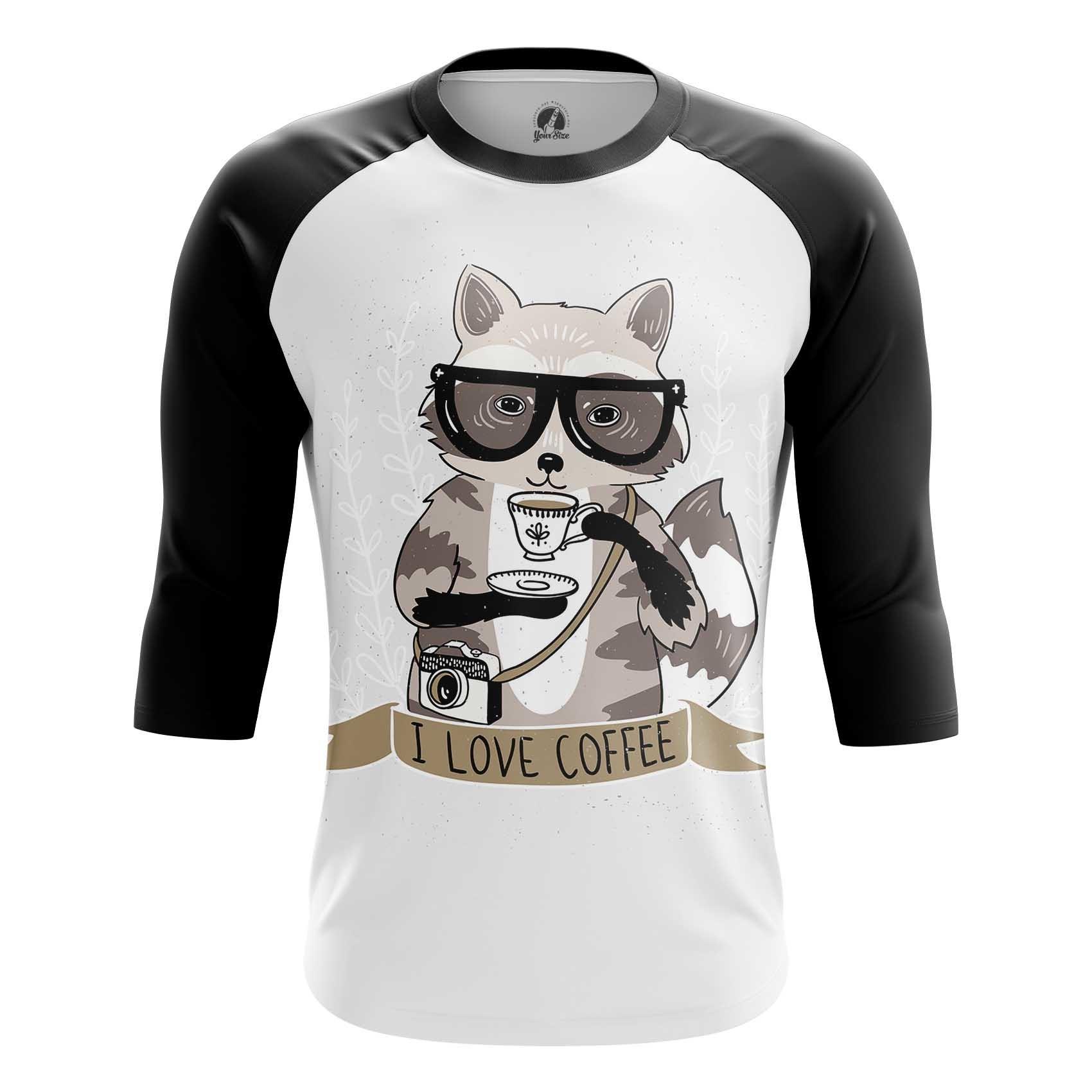 Merch Men'S T-Shirt Raccoon Hipster Art Picture
