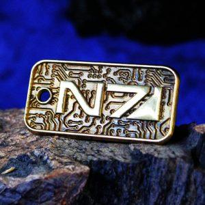 Merch Necklace Mass Effect N7 Pattern Sign Texture Pendant