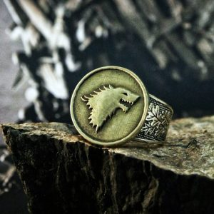 Collectibles Ring Game Of Thrones House Stark Darewolf