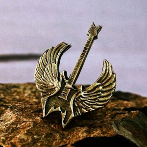Collectibles Necklace Rock Merchandise Guitar Metal Pendant